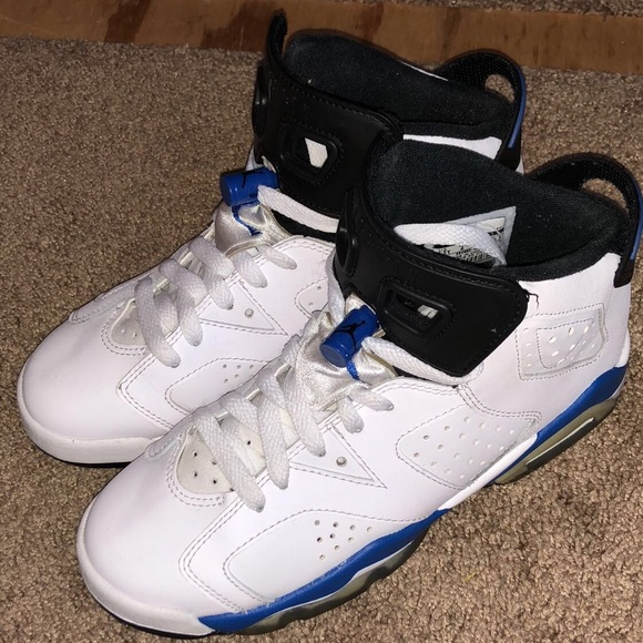 buy popular 39d0a beffa Jordans- Sport Blue 6s